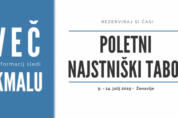 Poletni najstniški tabor 2019