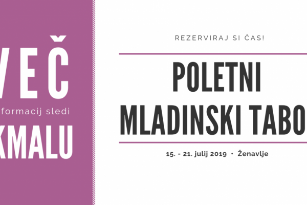 Poletni mladinski tabor 2019